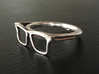 Hipster Glasses Ring Origin Size 10 (size 6-10) 3d printed size 7
