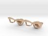 Hipster Glasses Cufflinks Female 3d printed