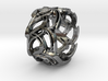 Crown Mesh Ring / Bronze Brass or Silver Ring 3d printed