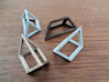Material Sample - 'Impossible' Pyramid Puzzle Piec 3d printed Puzzle pieces in various materials