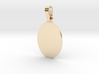 Pendant Base Oval 1 Inch X 3I4 Inch 3d printed