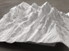 8'' Grand Tetons Terrain Model, Wyoming, USA 3d printed Radiance rendering of model, viewed from the East