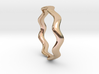THIN WAVE Ring 3d printed