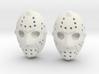 Jason Voorhees Mask lacelocks 3d printed