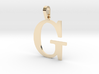 G Letter Pendant Small 3d printed