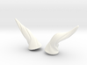 Horns Twist Vine: YOSD horns pointing sideways 3d printed