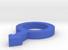 Symbol Man 4,6 x 3 x 0,5 inches / Hollow 2 Holes  3d printed