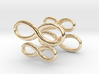 Cufflinks Infinity  Symbol 2x 3d printed