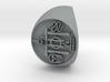 Custom Signet Ring 18 V.2 3d printed