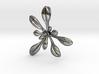 Large Arabidopsis Rosette pendant 3d printed