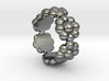 New Flower Ring 14 - Italian Size 14 3d printed