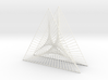 Shape Wired Parabolic Curve Art Triangle Base V2 3d printed