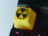 Radioactive Cherry MX Keycap 3d printed This keycap has had black acrylic ink added as a finishing effect.