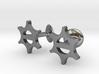 Cufflinks-Snowflake 3d printed