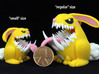 Monster Bunny #1  3d printed Image shows size comparison reference only.