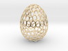 Honeycomb - Decorative Egg - 2.3 inch 3d printed gold plated egg