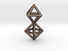Twin Octahedron Frame Pendant Small 3d printed