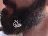 Old bike for beard - lateral wearing 3d printed