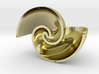 Golden Vortex Shell CCW 3d printed