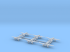 Caproni Ca.313 (with landing gear) 1/700 3d printed