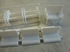 Set of 7mm LSWR gate stock coaches 3d printed