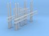 4x Portalmast 3-spurig (N 1:160) 3d printed