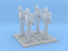 4 Level B Hazmat Technicians, HiRez, 1/64 3d printed