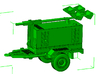1/50th Construction Generator light tower trailer 3d printed