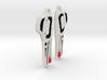 Westcoast Design Raven Earrings - White 3d printed
