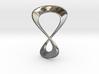 Eternal Love Loop Pendant 3cm tall 3d printed