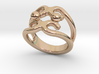 Two Bubbles Ring 31 - Italian Size 31 3d printed