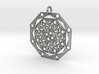 Mandala 10 Pendant 3d printed