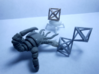 Faceted Minimal Octahedron Frame Pendant Small 3d printed Epic duel.