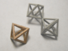 Faceted Twin Octahedron Frame Pendant Small 3d printed Twin Octahedron, withOctahedron