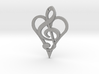 Music From The Heart Pendant 3d printed