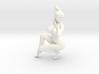 2016002-Ponytail girl in 15cm 3d printed