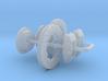1/32 Modern 11p6 Inch Diam 4 Piston Disk Brake Set 3d printed