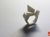 Twist-ring-mutation (small) 3d printed In White Strong & Flexible