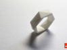 Twist-ring (small) 3d printed In White Strong & Flexible