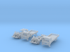 SET 2x Club-of-4 lorries (British N 1:148) 3d printed