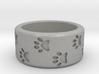 Cat Pawprints Ring 3d printed