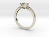 Solitaire Cushion Engagement Ring 3d printed