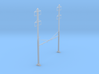 CATENARY PRR 4 TRACK 2-2 PHASE N SCALE  3d printed