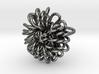 Ring 'Wiener Blume', Size 8.5 (Ø 18.6 mm) 3d printed