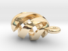 Spiral Spheroid Pendant 3d printed
