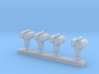 1:144 Scale Mk 95 NSSM Directors (4x) 3d printed
