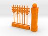 Iron Fence 4+1 cm 3d printed