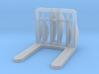 Front Loader Forks 1-87 HO Scale 3d printed