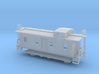 Illinois Central Side Door Caboose - Nscale 3d printed