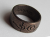 """Ashayam"" Vulcan Script Ring - Engraved Style 3d printed Pictured: Polished Bronze Steel"